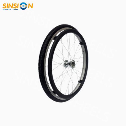 "20"" transport wheelchair wheel"